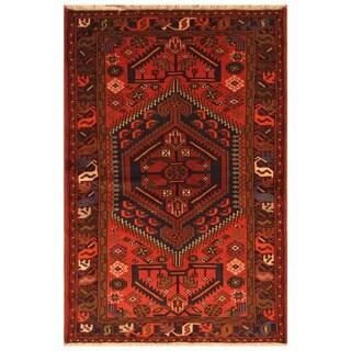Handmade One-of-a-Kind Hamadan Wool Rug (Iran) - 4'2 x 6'3