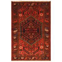 Handmade Herat Oriental Persian Tribal Hamadan Wool Rug (Iran) - 4'2 x 6'3
