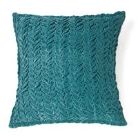 Allie Teal Cotton Velvet Decorative Throw Pillow