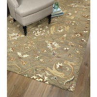 Hand-Tufted Christopher Palace Light Brown Wool Rug - 10' x 14'