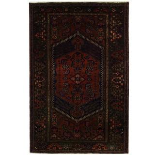 Herat Oriental Persian Hand-knotted Tribal Hamadan Wool Rug (4'9 x 7'2)