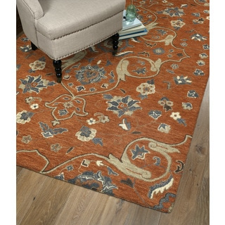 Hand-Tufted Christopher Palace Palce Paprika Wool Rug (10' x 14')