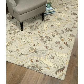 Hand-Tufted Christopher Palace Mushroom Wool Rug (10' x 14')