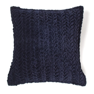Allie Indigo Cotton Velvet Decorative Throw Pillow