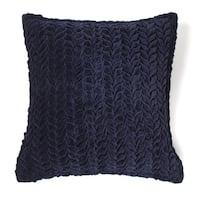 Allie Indigo Cotton Velvet Decorative Throw Pillow