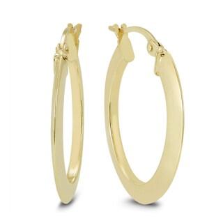 Marquee Jewels 14K Yellow Gold Oval Hoop Earrings (20 MM)