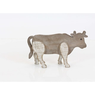 Brown Finish Wood Cow