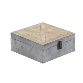 Wooden Box With Dusty Grey Finish