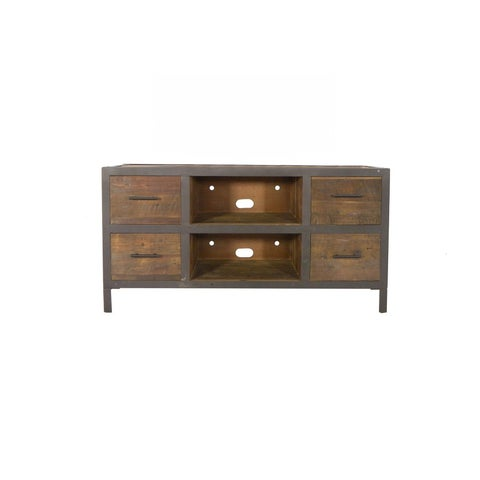 Topanga Reclaimed Wood 4 Drawer TV Stand
