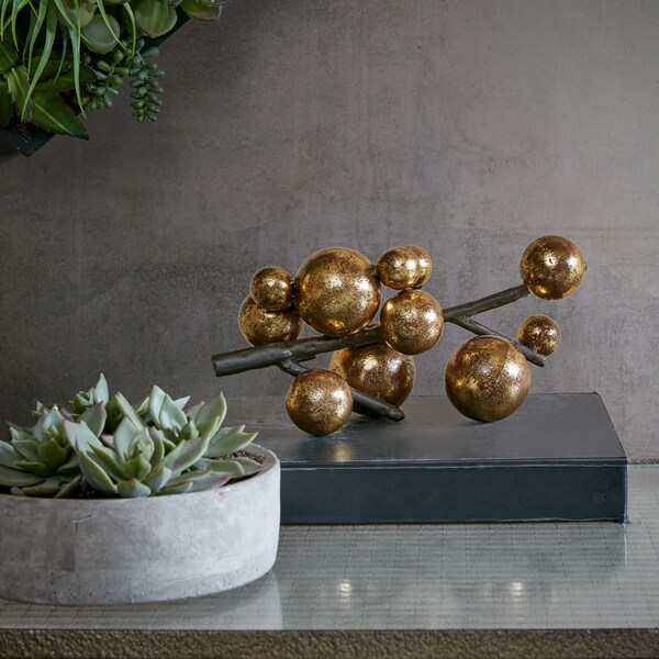 INK+IVY Amora Gold Decorative Sculpture