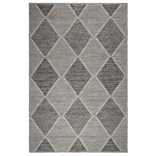 Fab Habitat, Indoor/Outdoor Floor Mat/Rug - Handwoven, Made from Recycled Plastic Bottles - Hampton/Grey - 2' x 3'