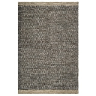 Fab Habitat, Indoor/Outdoor Floor Mat/Rug - Handwoven, Made from Recycled Plastic Bottles - Kingscote/Black & Beige - 2' x 3'