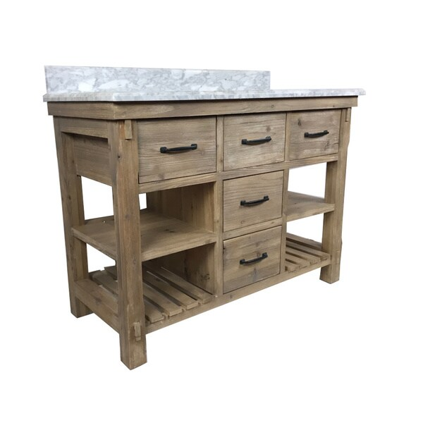 Rustic Style 48 Inch Single Sink Bathroom Vanity Free Shipping Today Overstock 22623473