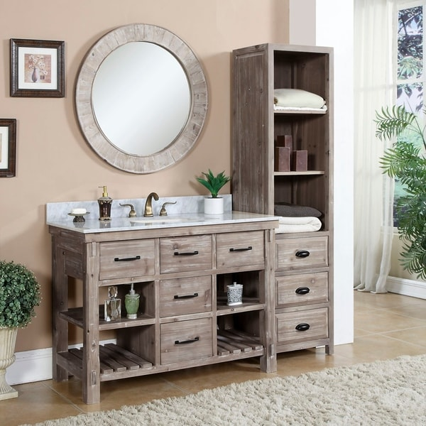 Shop Rustic Style 48-inch Single Sink Bathroom Vanity ...
