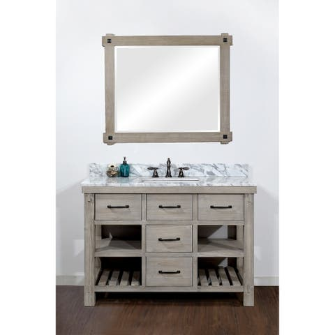Rustic Style 48-inch Single Sink Bathroom Vanity