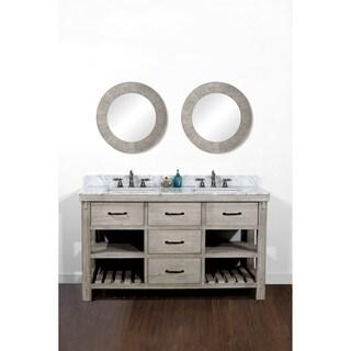 Rustic Style 60-inch Single Sink Bathroom Vanity