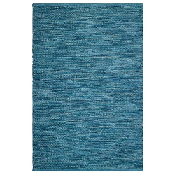 Fab Habitat, Indoor/Outdoor Floor Rug - Handwoven, Made from Recycled Plastic Bottles - Cancun/Blue - 2' x 3'