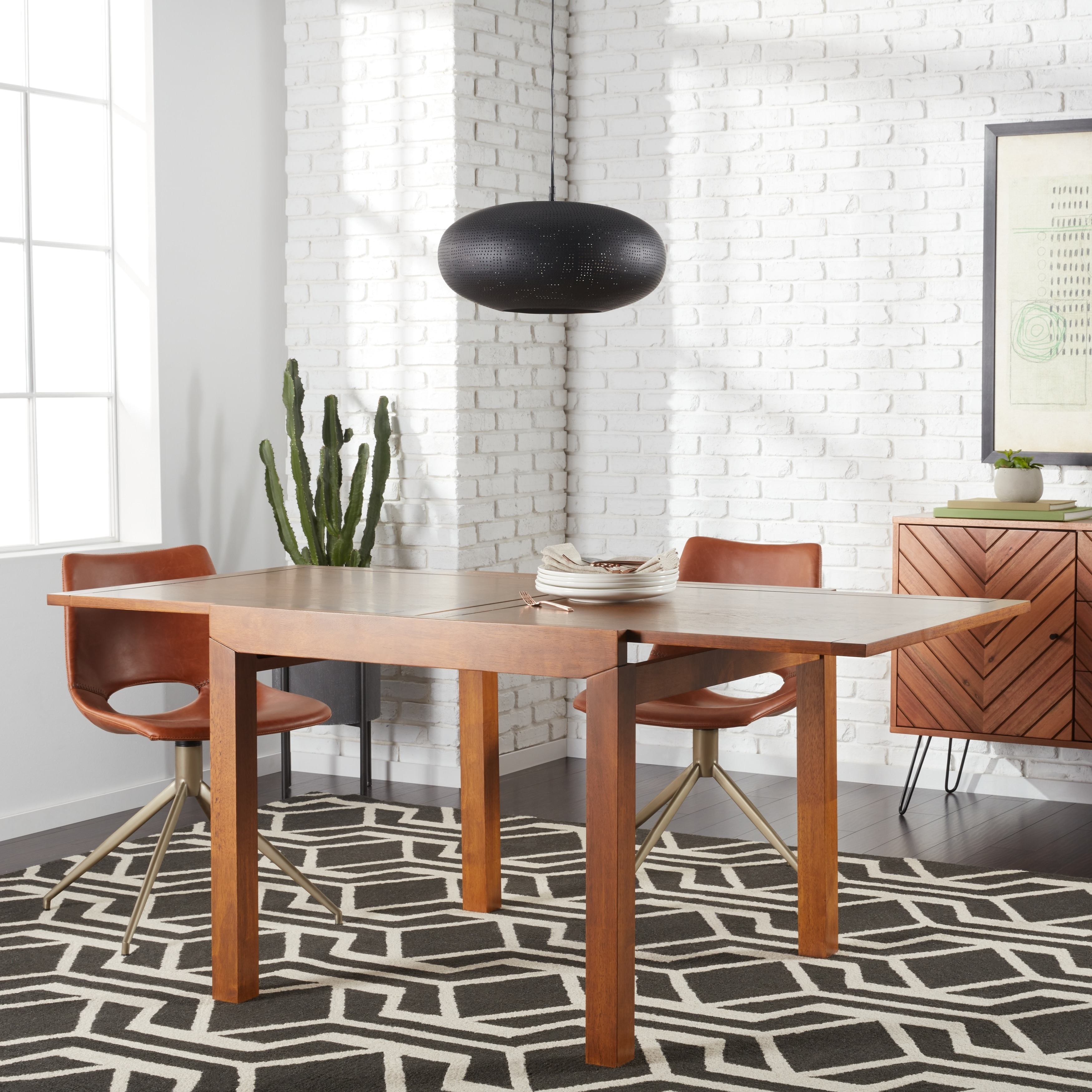 "Sorrento 35-70"" Extension Dining Table, Brown"