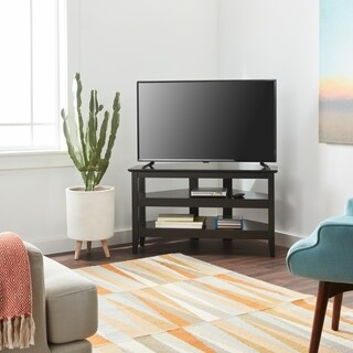Porch & Den Shaw Contemporary Black Corner TV Stand