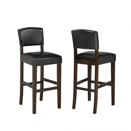 Shop Brassex 29 Bar Stool Set Of 2 Espresso Free