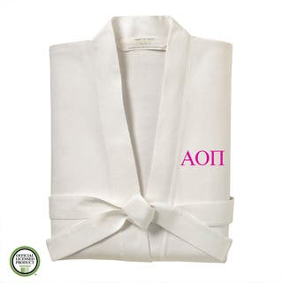 Under the Canopy Alpha Omicron Pi Monogrammed Kimono Bath Robe|https://ak1.ostkcdn.com/images/products/16257459/P22623538.jpg?impolicy=medium