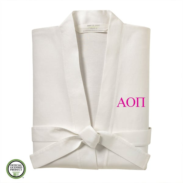 Under the Canopy Alpha Omicron Pi Monogrammed Kimono Bath Robe