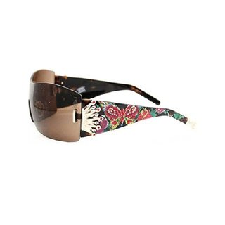 Christian Audigier Fantasy CAS406 Women's Blank Frame Black Lens Sunglasses