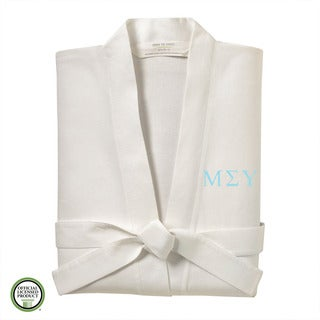 Under the Canopy Mu Sigma Upsilon Monogrammed Kimono Bath Robe