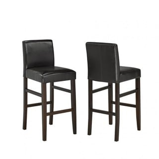 Brassex 29' Bar Stool, Set of 2, Espresso