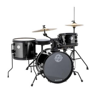 "Ludwig LC178X016 Questlove Pocket Kit 16"" Bass Drum 4-Piece Drum Set - Black Sparkle"