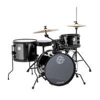 "Ludwig LC178X016 Questlove Pocket Kit 16"" Bass Drum 4-Piece Drum Set - Black Sparkle"