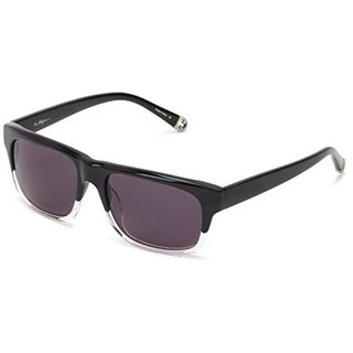 True Religion TRJAMIE-FCBKCL Unisex Rectangular Black Lens Grey Sunglasses