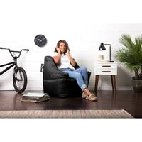 Big Joe Lucky Bean Bag Chair, Stretch Limo Black Smartmax