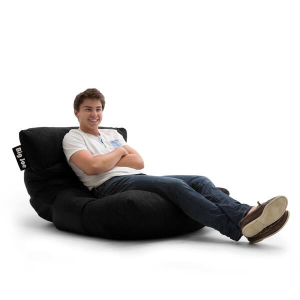Magnificent Shop Big Joe Roma Black Microfiber Comfort Suede Plus Chair Beatyapartments Chair Design Images Beatyapartmentscom