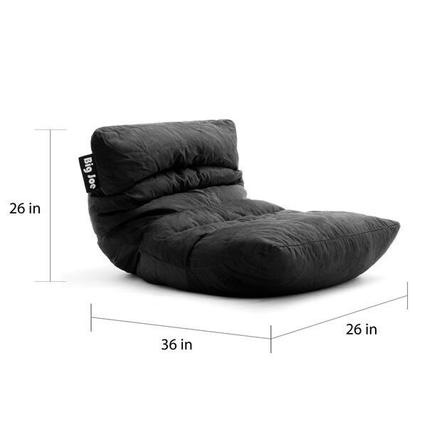 Fantastic Shop Big Joe Roma Black Microfiber Comfort Suede Plus Chair Beatyapartments Chair Design Images Beatyapartmentscom