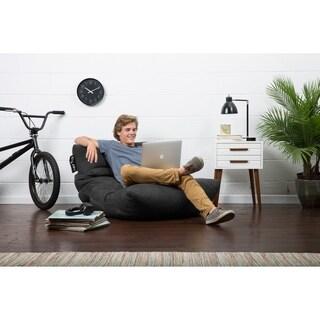 Big Joe Roma Black Microfiber Comfort Suede Plus Chair