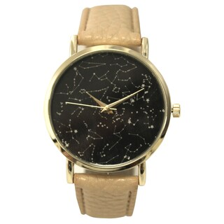 Olivia Pratt Women's Constellaion Map Leather Watch One Size