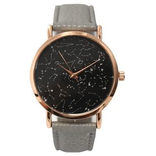 Olivia Pratt Women's Constellaion Map Leather Watch One Size