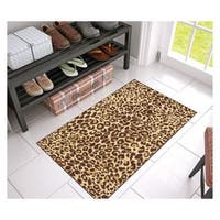 "Well Woven Eastgate Modern Animal Print Leopard Brown Mat Accent Rug - 2'3"" x 3'11"""