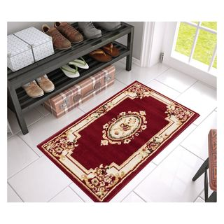 Eastgate Traditional French Country Aubusson Red Area Rug (2'3 x 3'11)