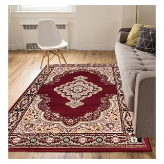 Eastgate Traditional Medallion  Red Area Rug (9'3 x 12'6)