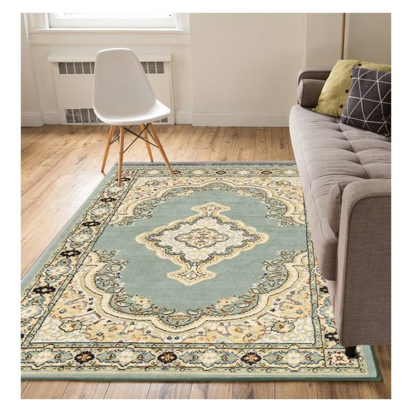 """Well Woven Eastgate Traditional Medallion Blue Area Rug - 9'3"""" x 12'6"""""""