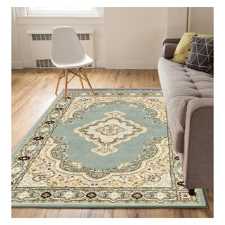 Eastgate Traditional Medallion Blue Area Rug (9'3 x 12'6)