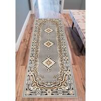 """Eastgate Traditional Medallion Grey Area Rug - 2'3"""" x 3'11"""""""