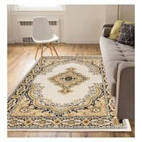 """Eastgate Traditional Medallion Ivory Area Rug - 9'3"""" x 12'6"""""""