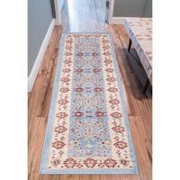 Eastgate Traditional Oriental Classic Blue Runner Rug - 2' x 7'3""