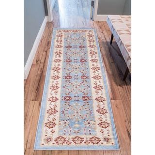 Well Woven Eastgate Traditional Oriental Classic Blue Runner Rug - 2' x 7'3""
