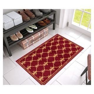 Eastgate Transitional Trellis Red Area Rug (2'3 x 3'11)