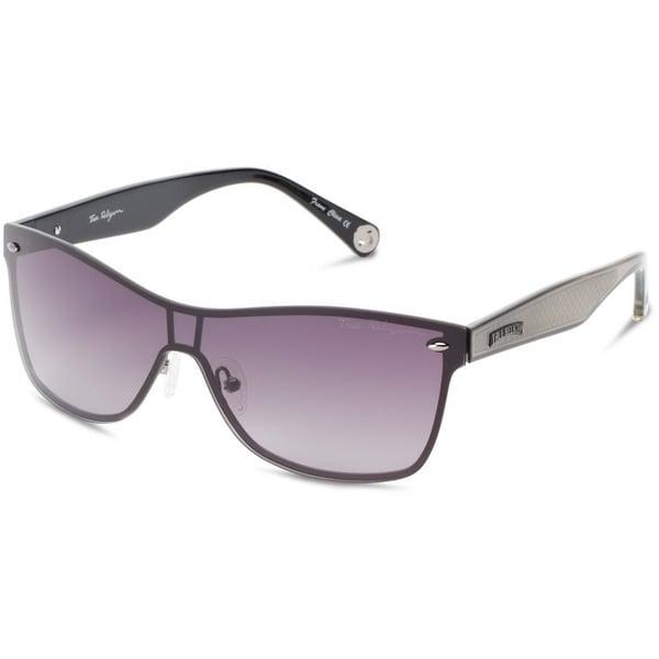 Shop True Religion Mia Silver Frame Grey Lens Sunglasses - Free ...