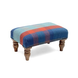 """Link to Handmade Cotton Ottoman Footstool (India) - 20"""" x 12"""" x 10"""" Similar Items in Living Room Furniture"""